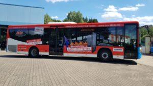 Mobile Werbung Buswerbung Fahrzeugbeschriftung BKM Mihla